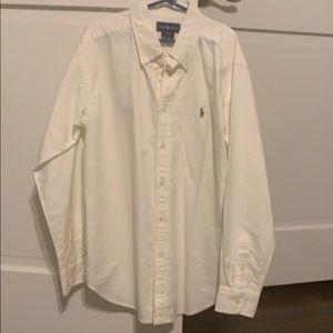 Ralph Lauren Boys white button down shirt
